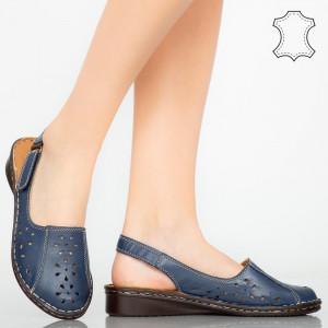 Sandale piele naturala Cest albastre