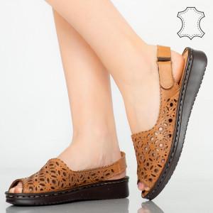 Sandale piele naturala Doga maro