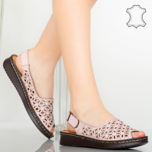 Sandale piele naturala Doga roz