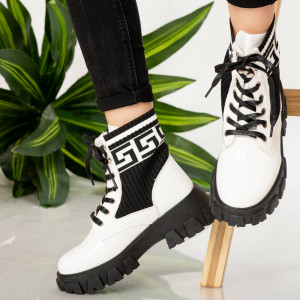 White Cif women's boots