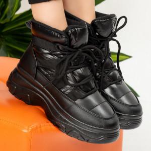 Μαύρες μπότες γούνας Ryc