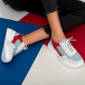 Πάνινα παπούτσια από φυσικό δέρμα Ligi navy blue