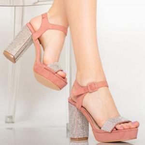 Дамски сандали Айга розово