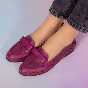 Bio lila természetes bőr cipő