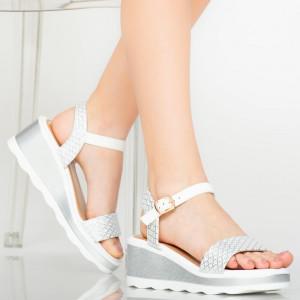 Fehér tenyér hölgy platformok