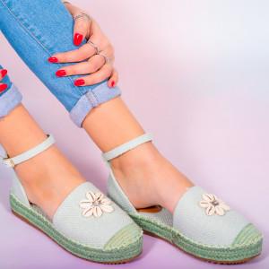 Hust зелени дамски обувки