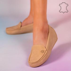 Mariu bézs természetes bőr cipő