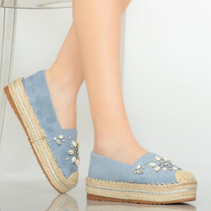 Pantofi casual Calla albastri