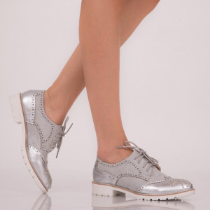 Pantofi casual Elianna gri
