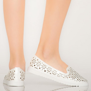 Pantofi casual Vela albi