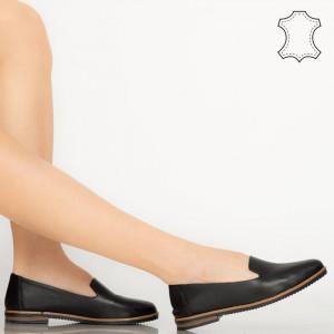 Pantofi piele naturala Bena negri