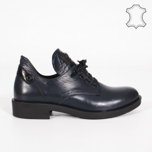 Pantofi Piele Naturala BRAN Albastri