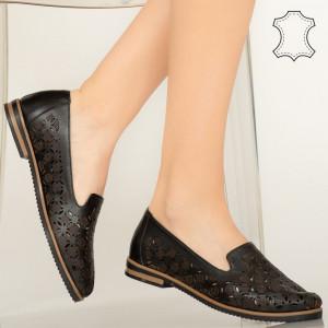 Pantofi piele naturala Bury negri