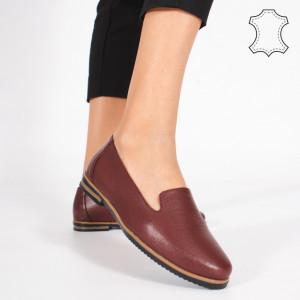 Pantofi Piele Naturala DUM Bordo