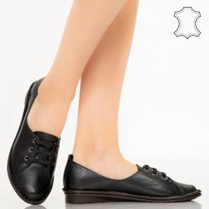 Pantofi piele naturala Kic negri
