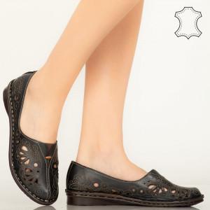 Pantofi piele naturala Lobo negri