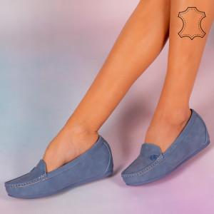 Pantofi piele naturala Mariu bleu