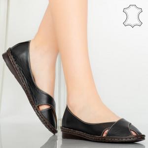 Pantofi piele naturala Nose negri