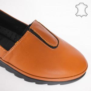 Pantofi Piele Naturala YOD Camel