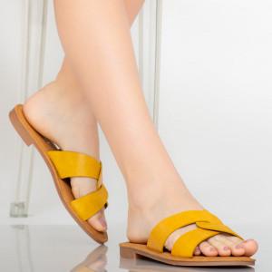 Papuci dama Eman galbeni