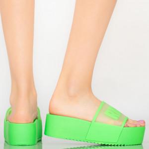 Papuci dama Rich verde