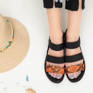 Sandale dama Abe portocalii