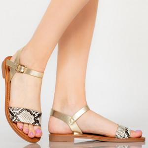 Sandale dama Ampa bej