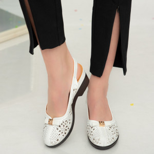 Sandale dama Amu albe