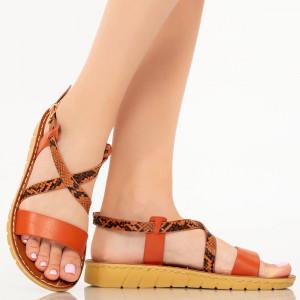 Sandale dama Cofa portocalii