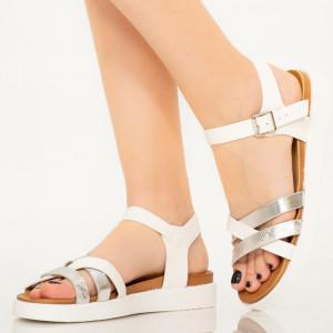 Sandale dama Div albe
