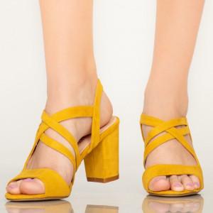 Sandale dama Fitz galbene