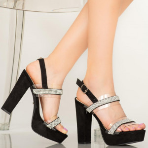 Sandale dama Grif negre