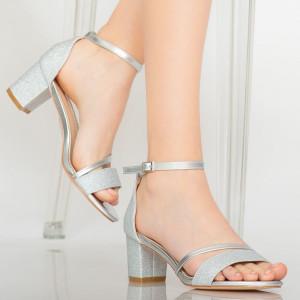 Sandale dama Ida argintii