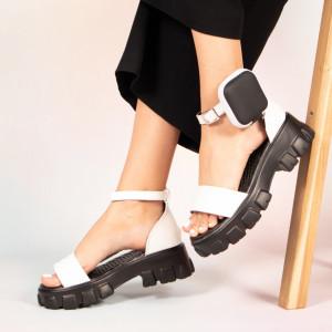 Sandale dama Pers albe
