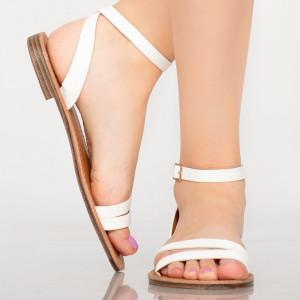 Sandale dama Sou albe