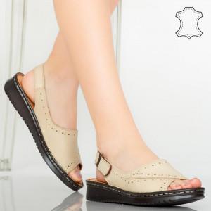 Sandale piele naturala Algo bej