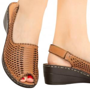 Sandale piele naturala Bak camel