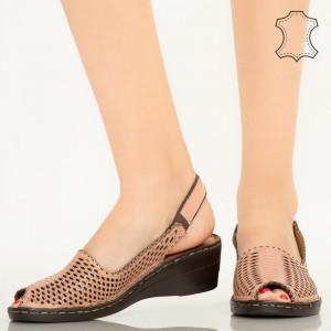 Sandale piele naturala Bak roz