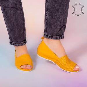 Sandale piele naturala Bet galbene