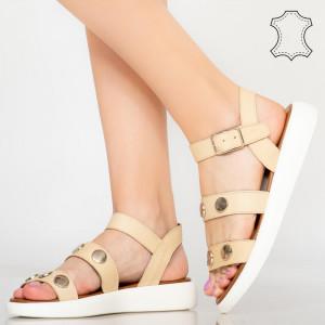 Sandale piele naturala Eme bej