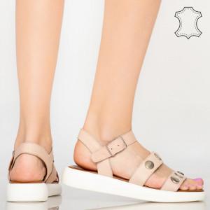 Sandale piele naturala Eme roz