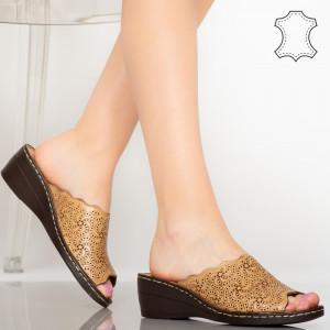 Sandale piele naturala Ony camel