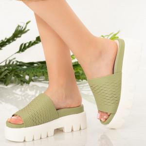 Zöld Amix női papucs