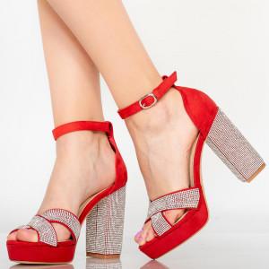Дамски сандали Червен диван