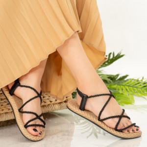 Черни дамски сандали Nalida