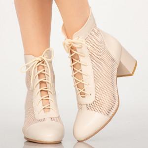 Asla beige summer ankle boots