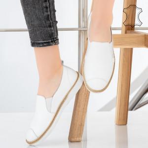 Bok fehér természetes bőr cipő