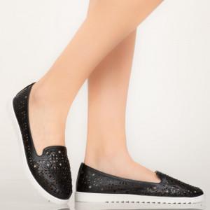 Fekete vitorlás alkalmi cipő