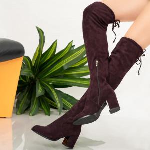 Fur boots Purple rice