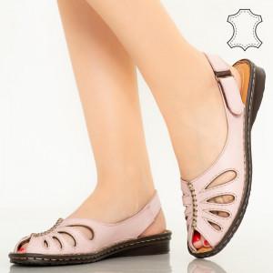 Lya розови сандали от естествена кожа